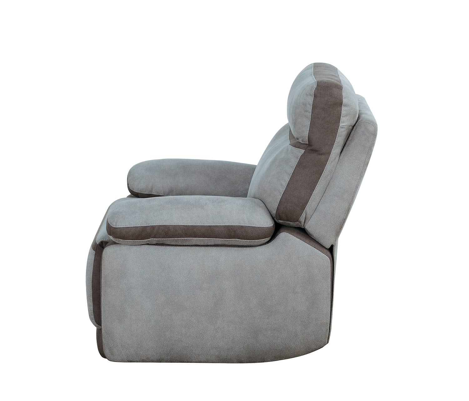 Homelegance Barilotto Power Reclining Chair With Power Headrest - Gray