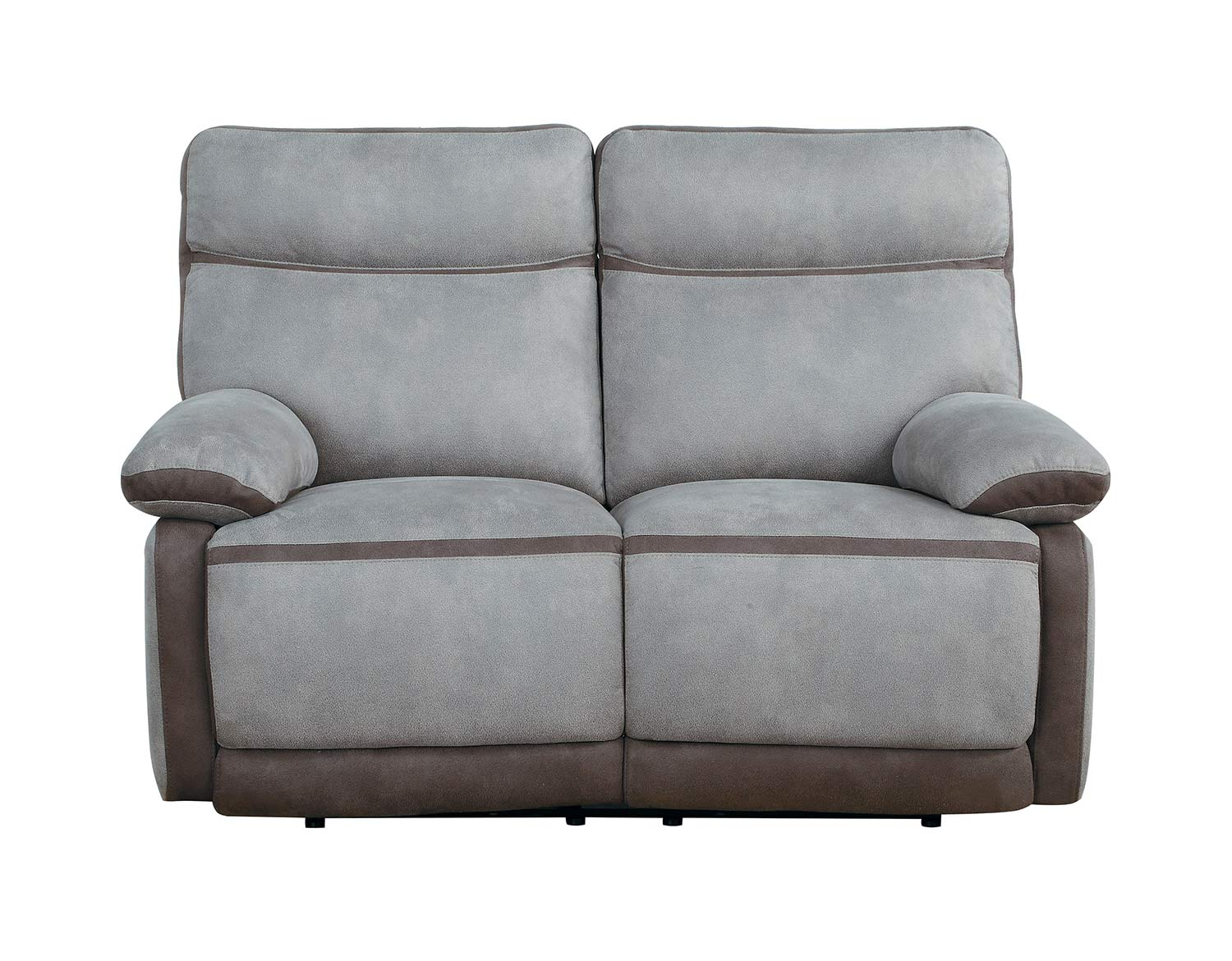 Homelegance Barilotto Power Double Reclining Love Seat With Power Headrests - Gray