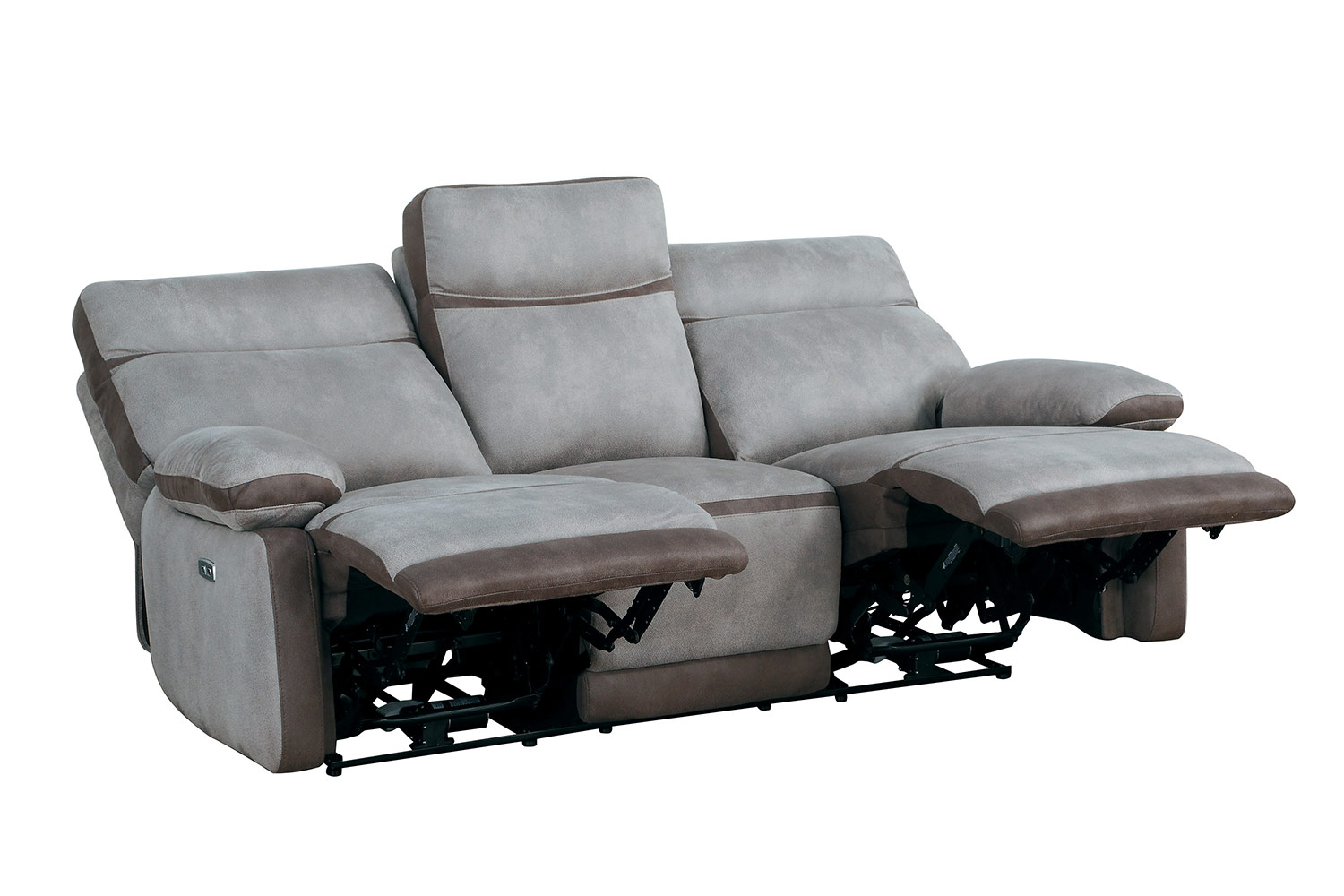 Homelegance Barilotto Power Double Reclining Sofa With Power Headrests - Gray