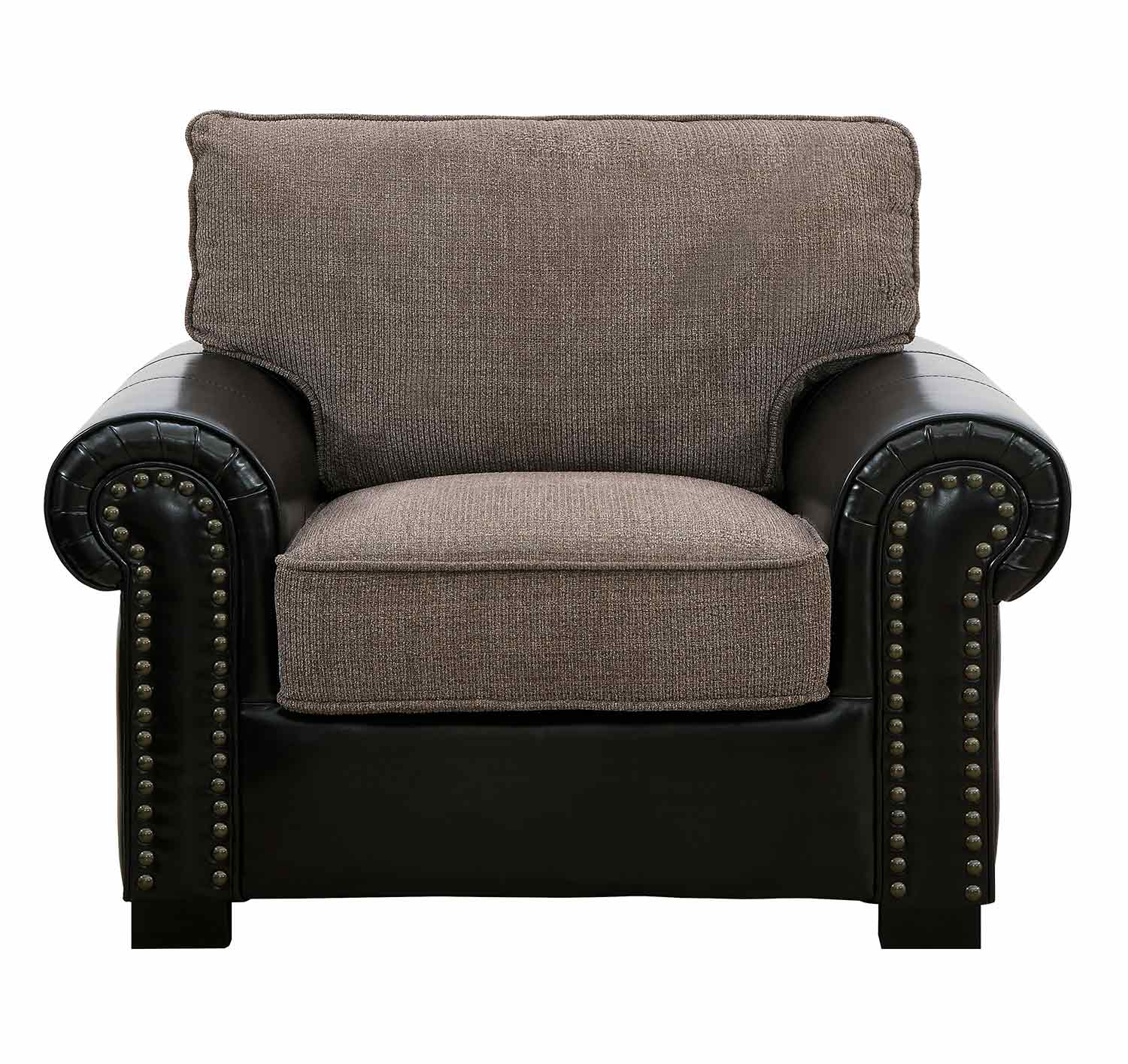 Homelegance Boykin Chair - Brown Chenille