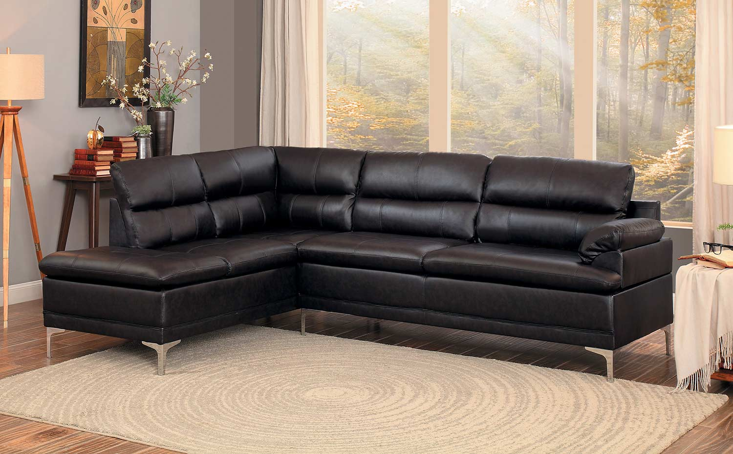 Homelegance Soyer Sectional Sofa - Dark Brown