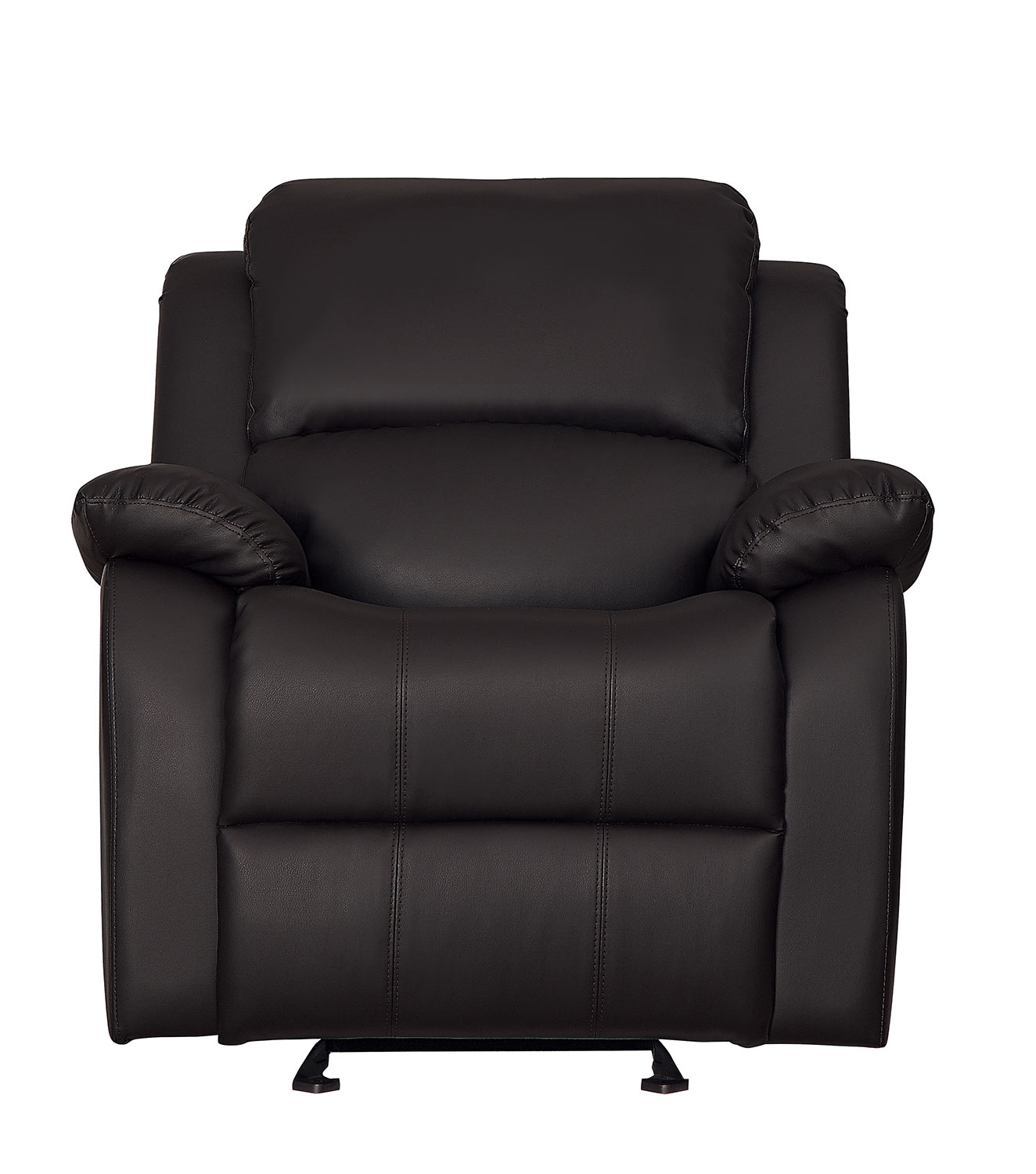 Homelegance Clarkdale Glider Reclining Chair - Dark Brown - Dark brown bi-cast vinyl