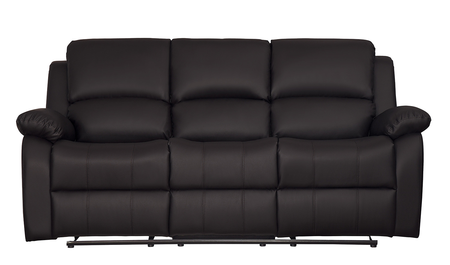 Homelegance Clarkdale Double Reclining Sofa With Center Drop-Down Cup Holders - Dark Brown - Dark brown bi-cast vinyl
