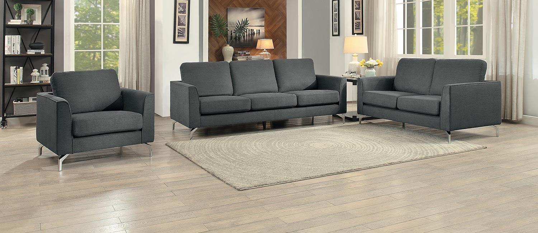 Homelegance Canaan Sofa Set - Gray