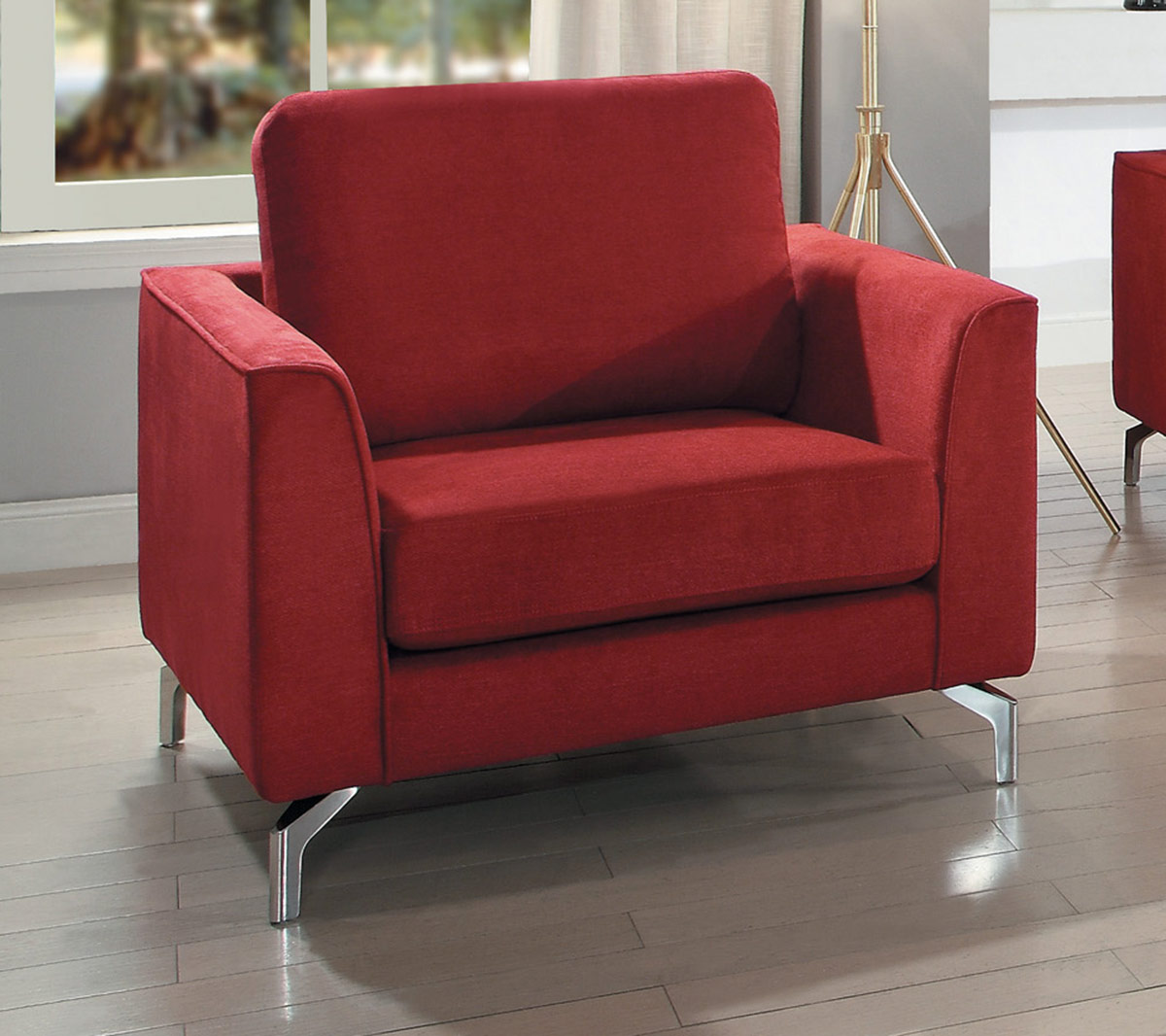Homelegance Canaan Chair - Red