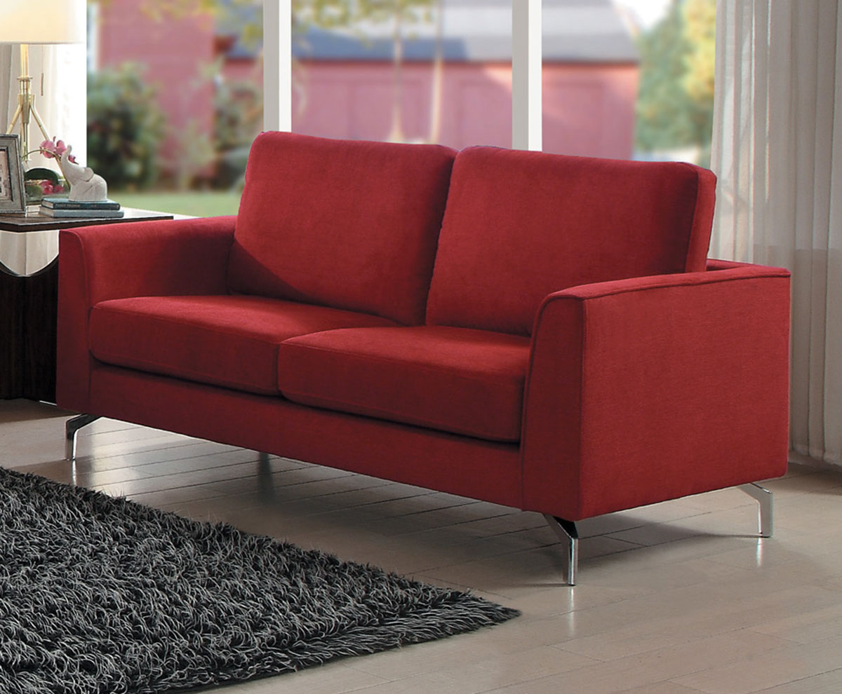 Homelegance Canaan Love Seat - Red