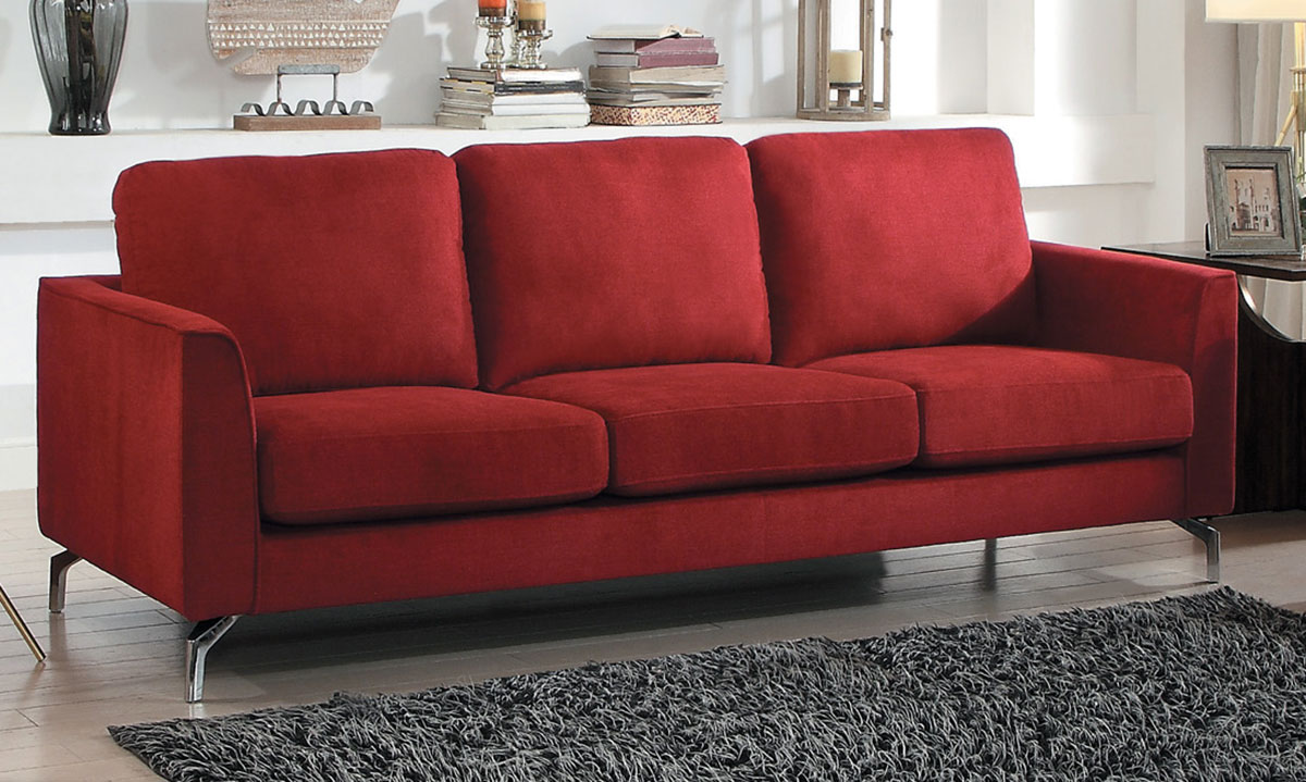 Homelegance Canaan Sofa - Red