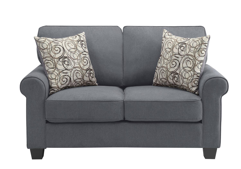 Homelegance Selkirk Love Seat - Gray