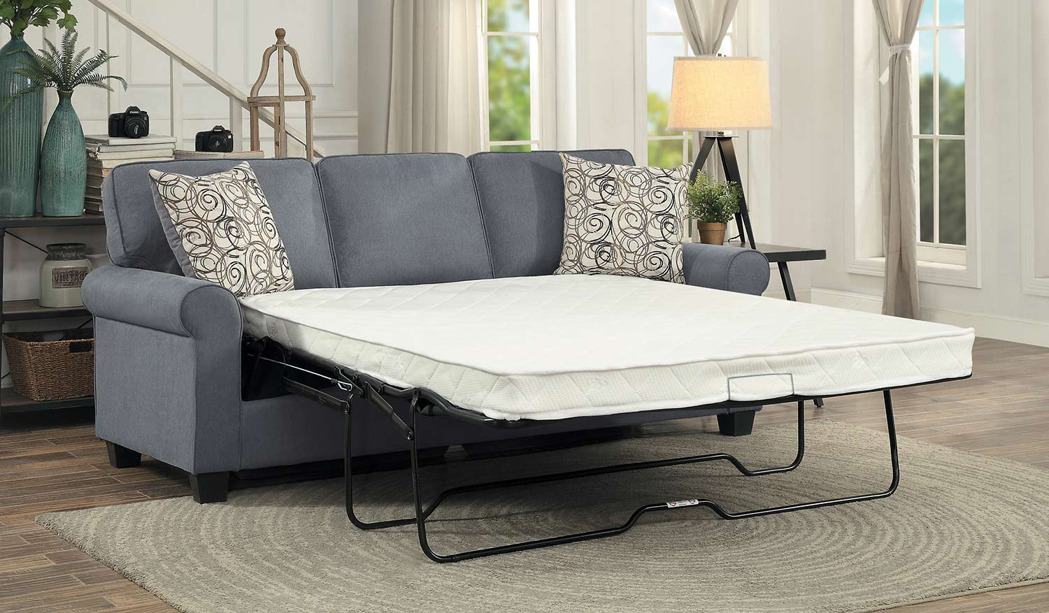 Homelegance Selkirk Sleeper Sofa With Sleeper Mattress - Gray