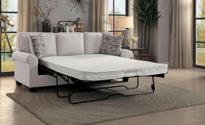 Homelegance Selkirk Sofa With Sleeper Sofa and Mattress - Sand Fabric
