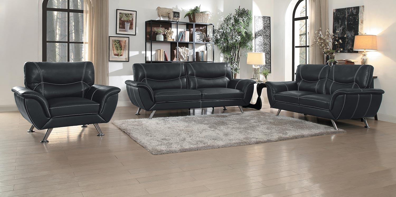 Homelegance Jambul Sofa Set - Black
