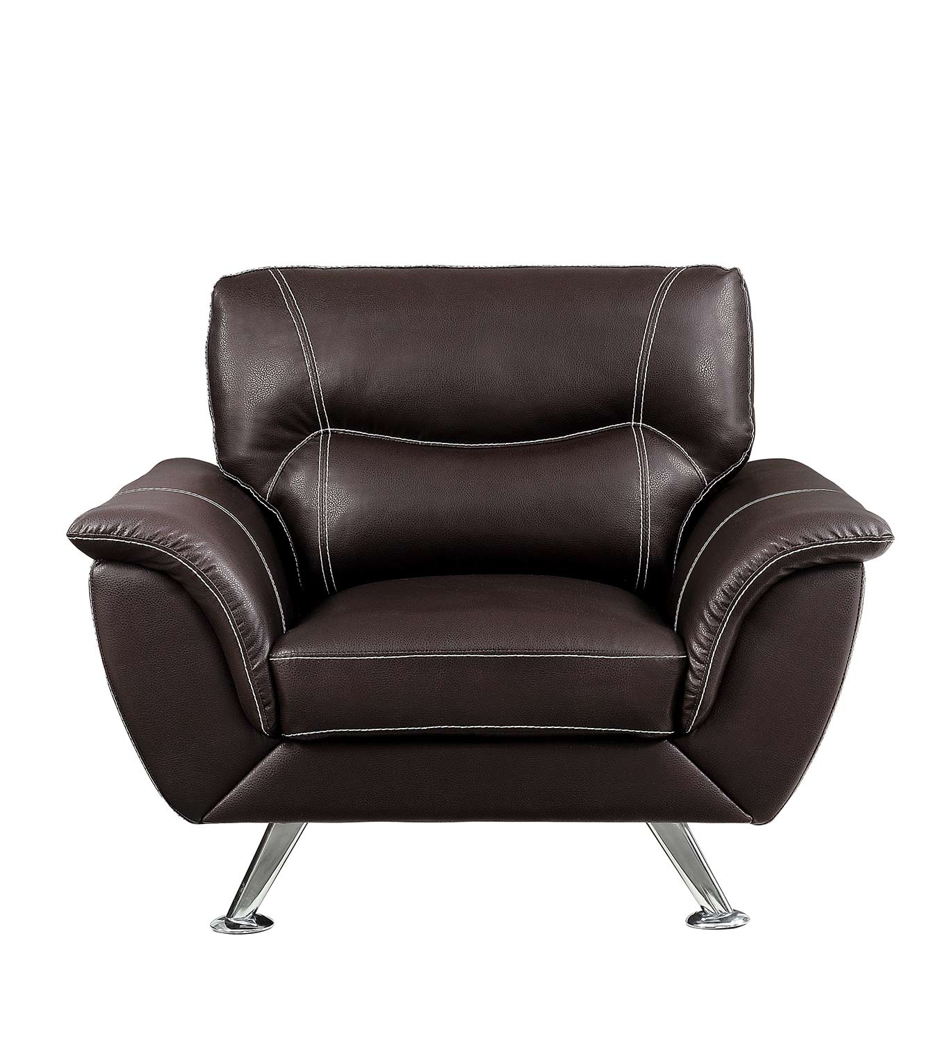 Homelegance Jambul Chair - Dark Brown - Dark brown bi-cast vinyl