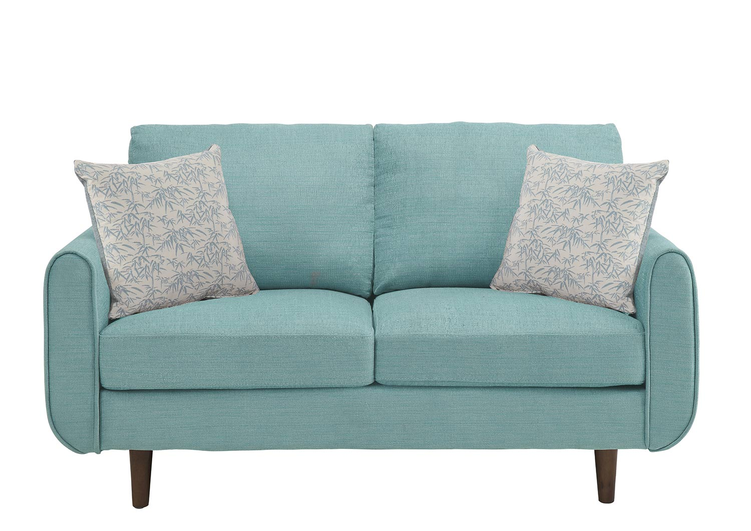 Homelegance Wrasse Love Seat - Teal
