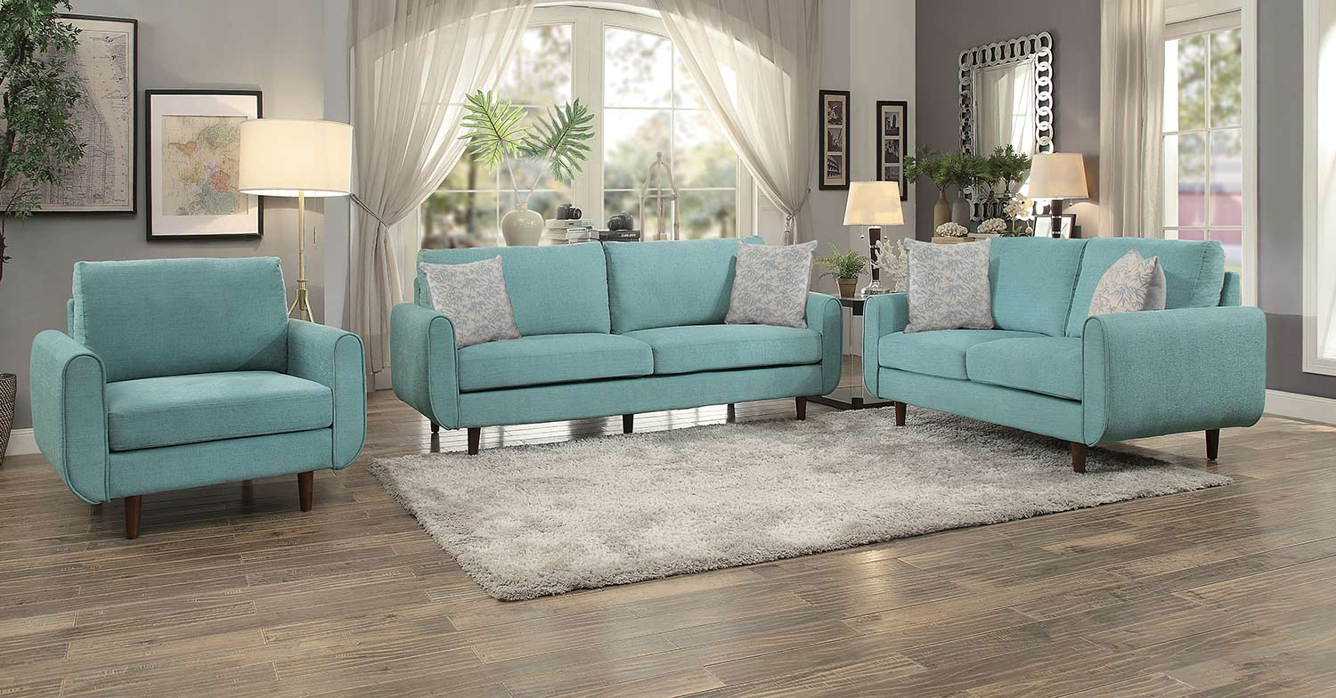 Homelegance Wrasse Sofa Set - Teal