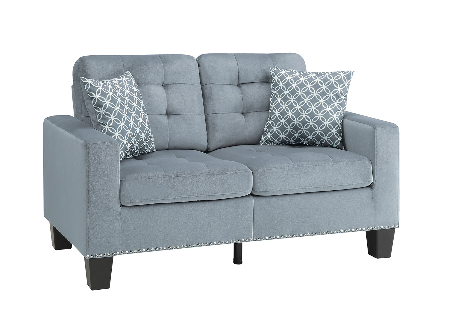 Homelegance Lantana Love Seat - Gray