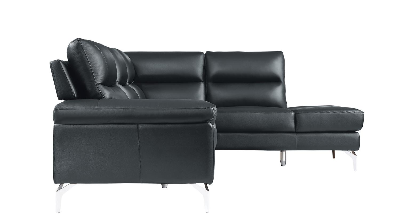 Homelegance Cairn Sectional Sofa Set - Black