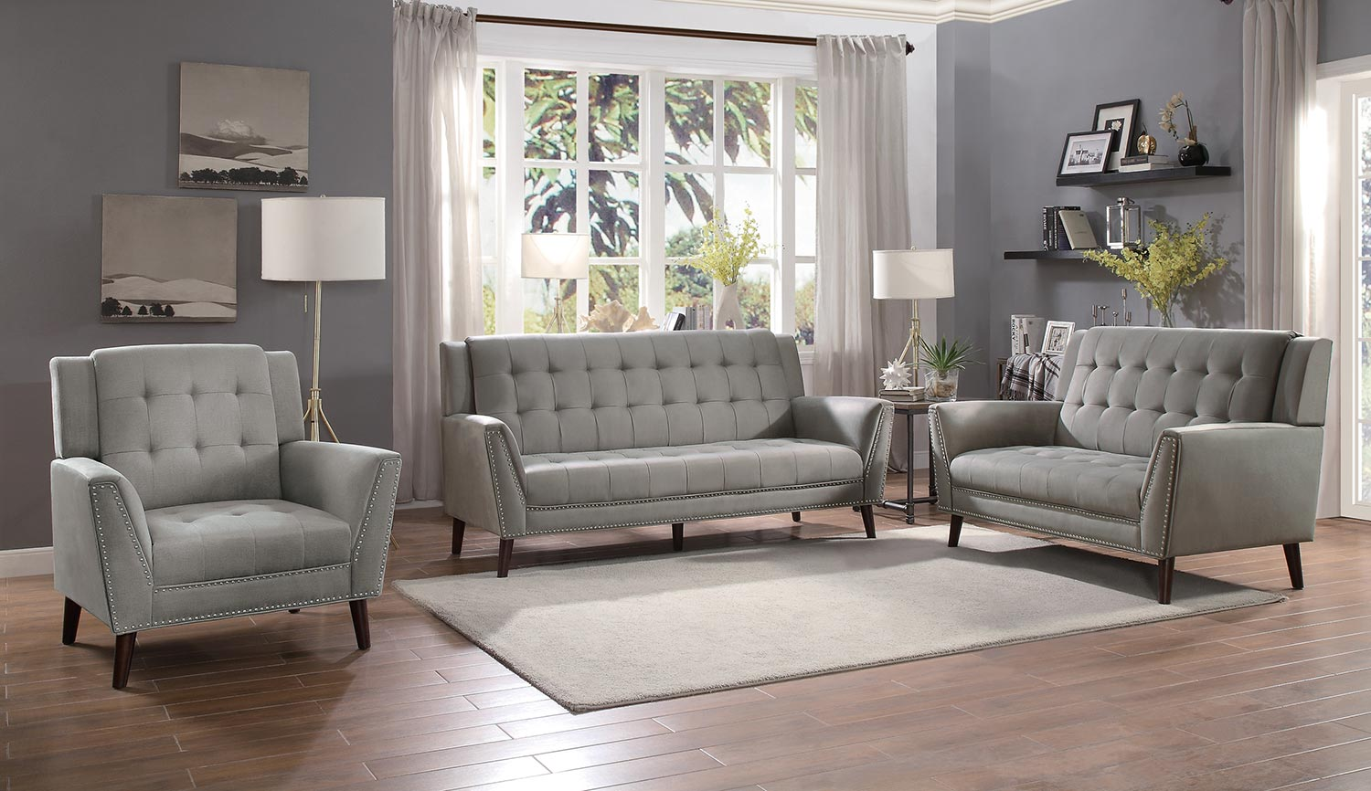 Homelegance Broadview Sofa Set - Brown