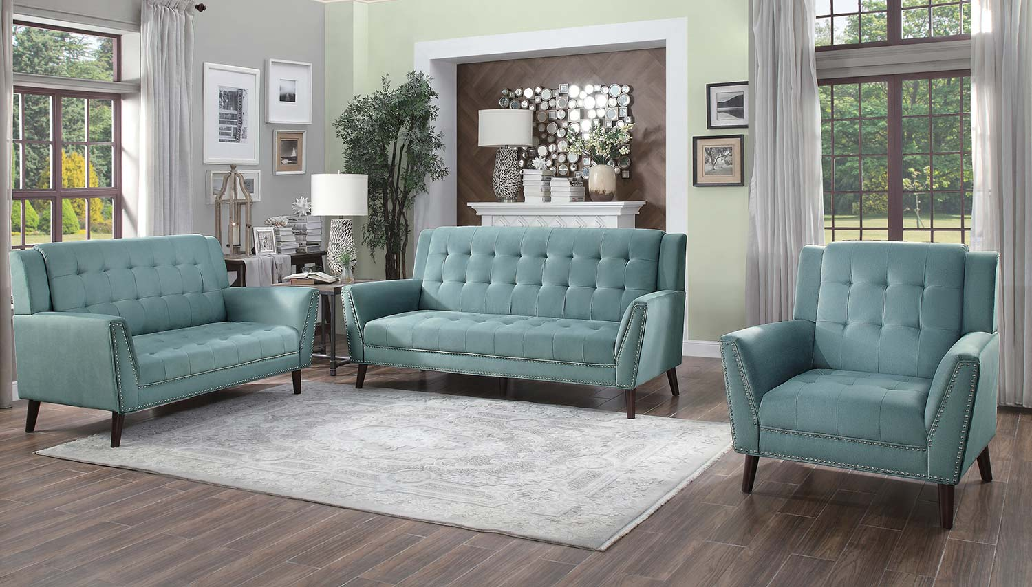 Homelegance Broadview Sofa Set - Fog gray