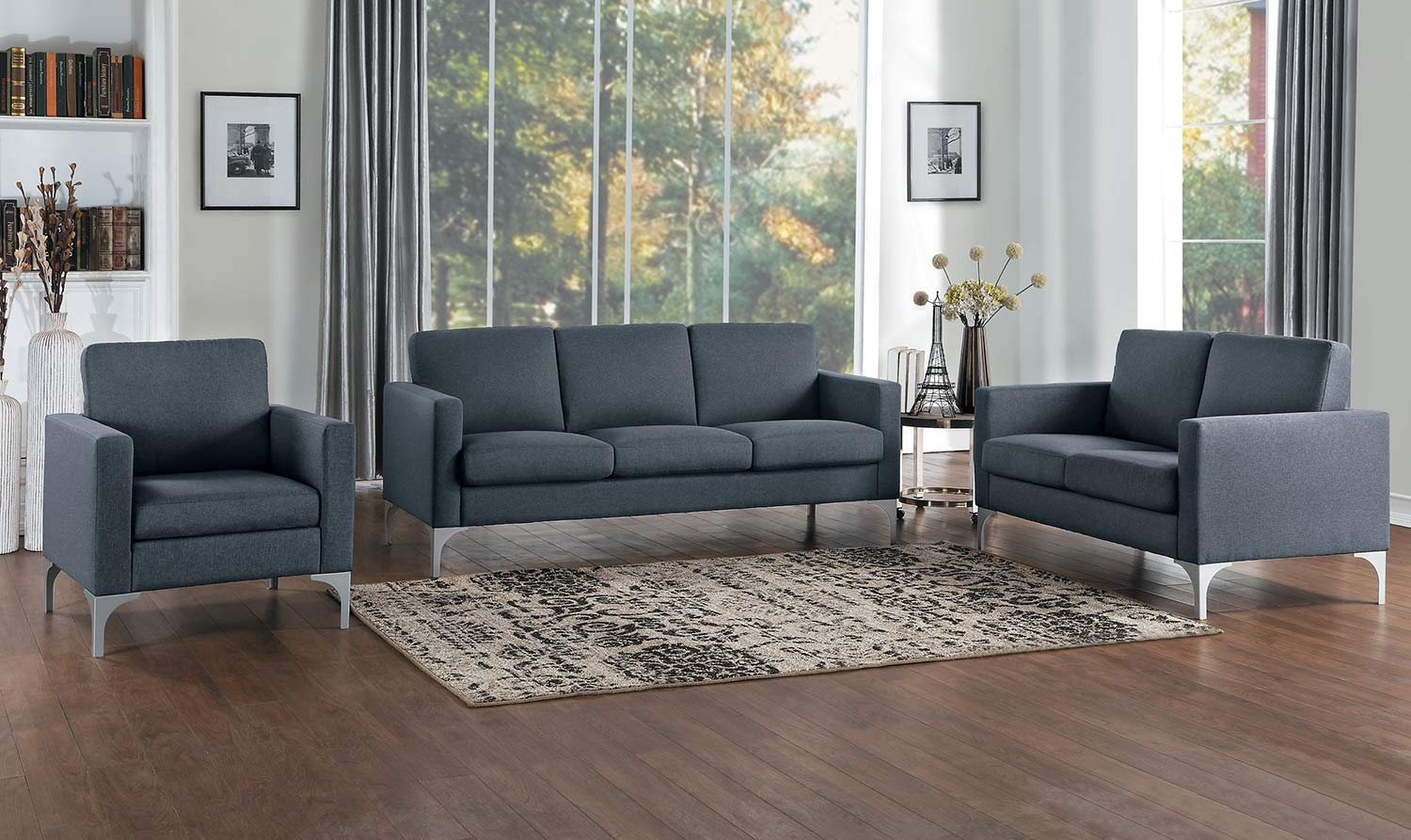 Homelegance Soho Sofa Set - Dark Gray - Brownish Gray