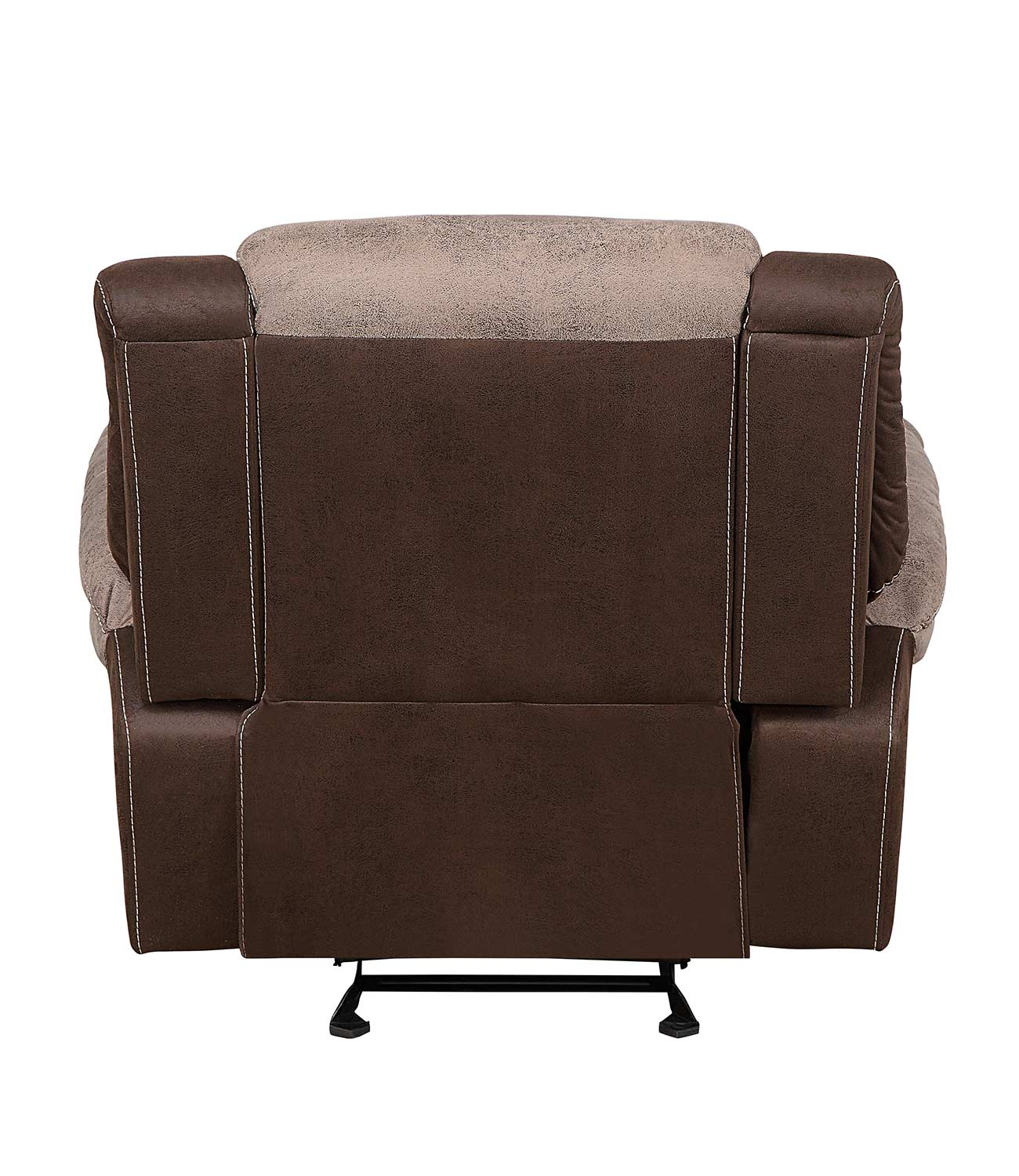 Homelegance Chai Glider Reclining Chair - Brown and dark brown polished microfiber