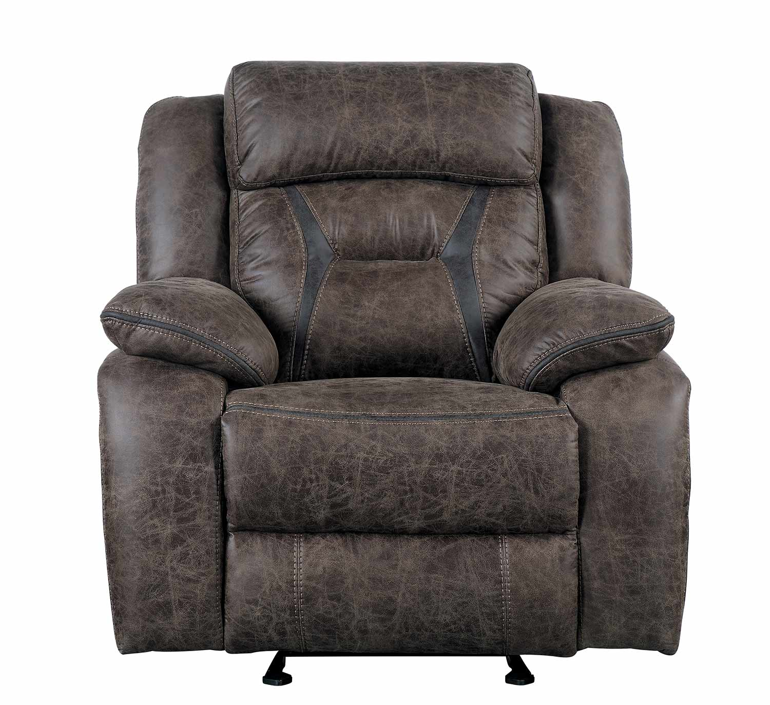 Homelegance Madrona Gilder Reclining Chair - Dark brown polished microfiber