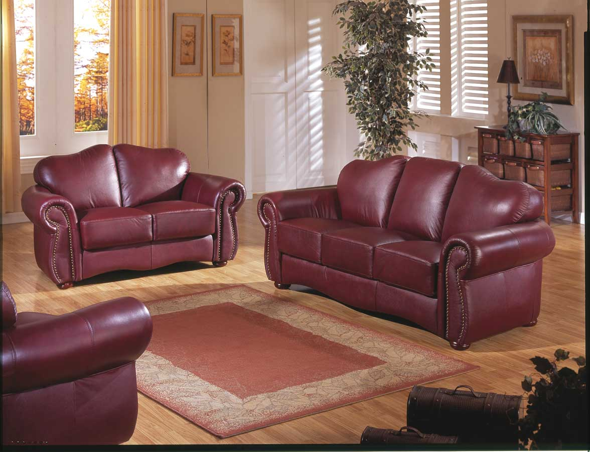 Homelegance Humphrey Sofa Collection Burgundy U9990bg At