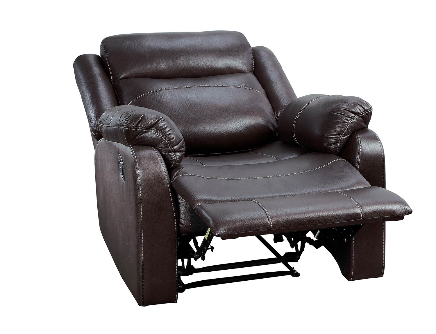 Homelegance Yerba Lay Flat Reclining Chair - Dark Brown