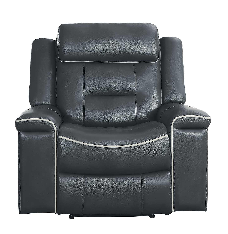Homelegance Darwan Lay Flat Reclining Chair - Dark Gray