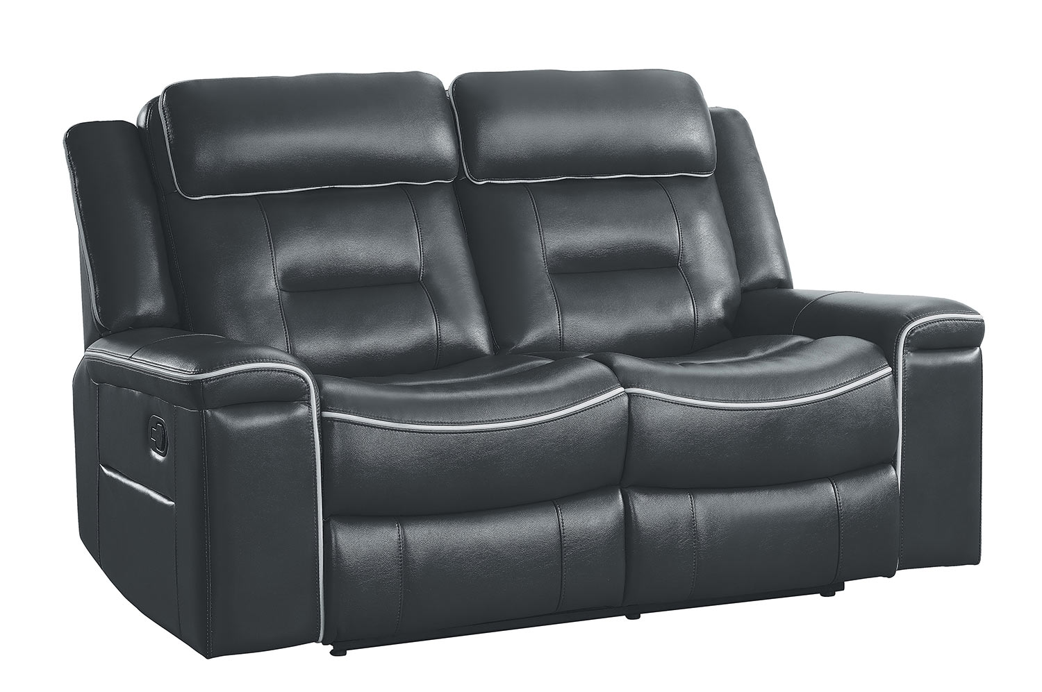 Homelegance Darwan Double Lay Flat Reclining Love Seat - Dark Gray
