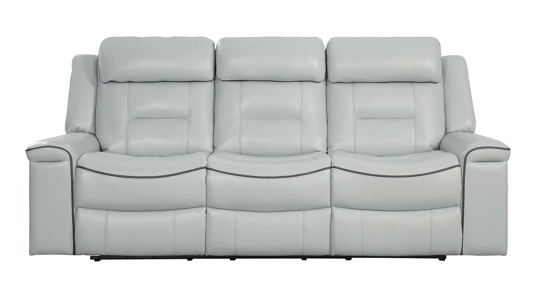 Homelegance Darwan Double Lay Flat Reclining Sofa - Light Gray ...