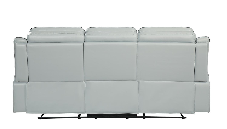 Homelegance Darwan Double Lay Flat Reclining Sofa - Light Gray