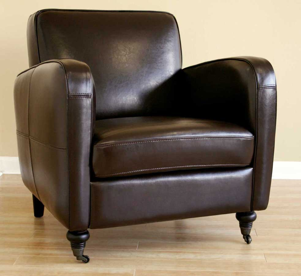 Wholesale Interiors A-69 Full Leather Club Chair