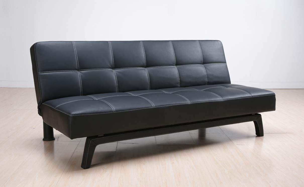 Abbyson Living Ashlyn Black Convertible Sofa AD 150N1S BLK