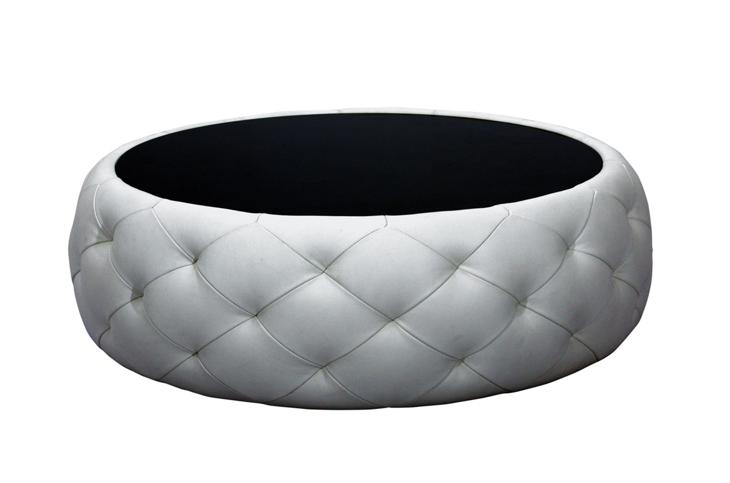 - Abbyson Living Furrinno Round Leather Coffee Table AB-AD-CT-106 At