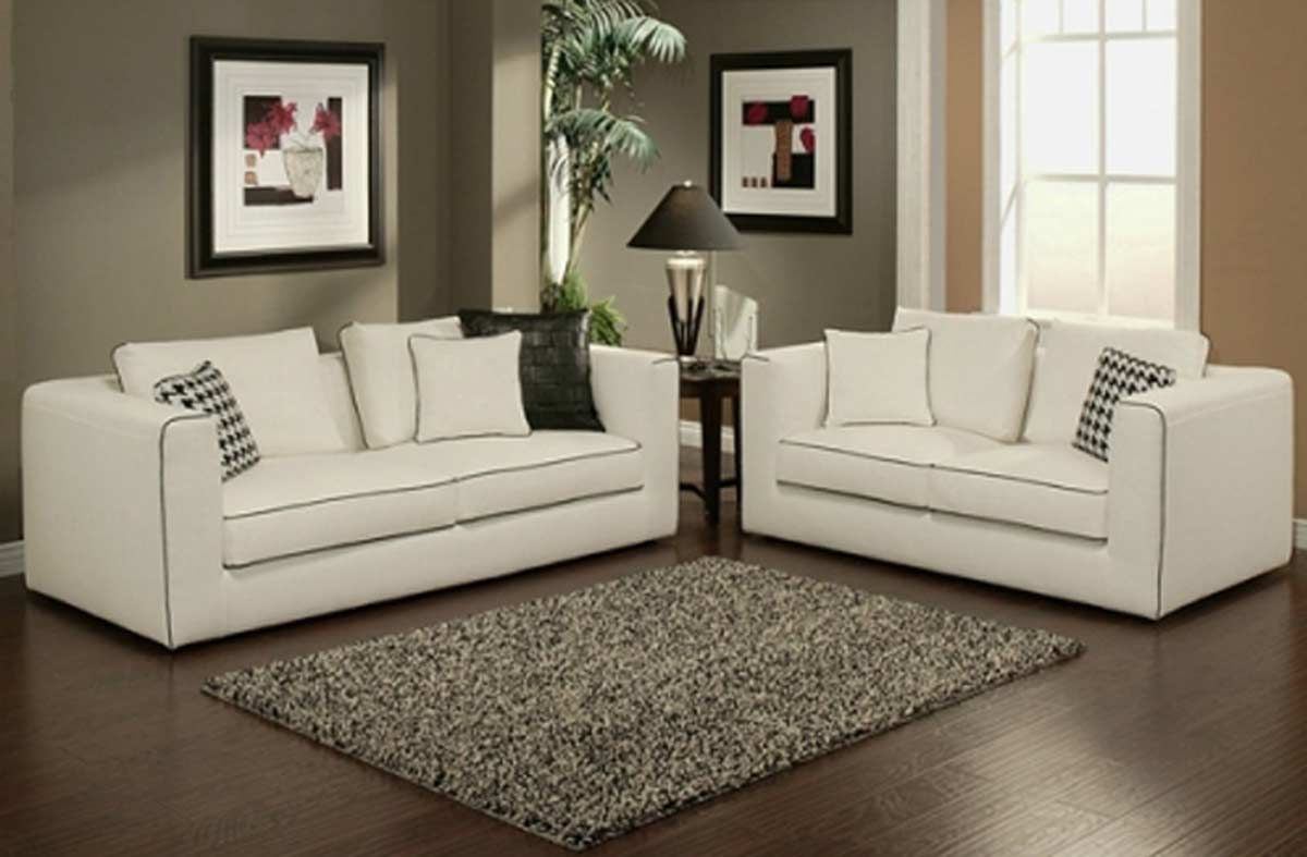 abbyson living soho italian linen sofa and loveseat set - kite
