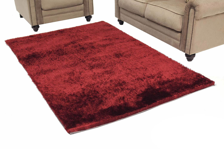 Abbyson Living AR-YS-TS001 Shag Rug 6 x 3-Feet - Red