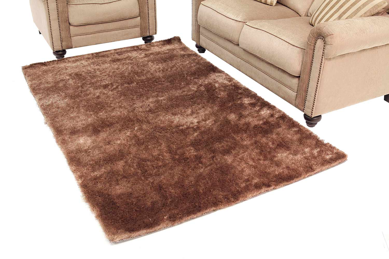 Abbyson Living AR-YS-TS008 Shag Rug 8 x 10-Feet - Brown