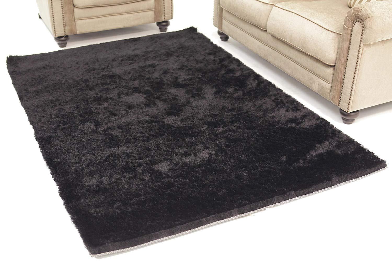 Abbyson Living AR-YS-TS010 Shag Rug 5 x 8-Feet - Black