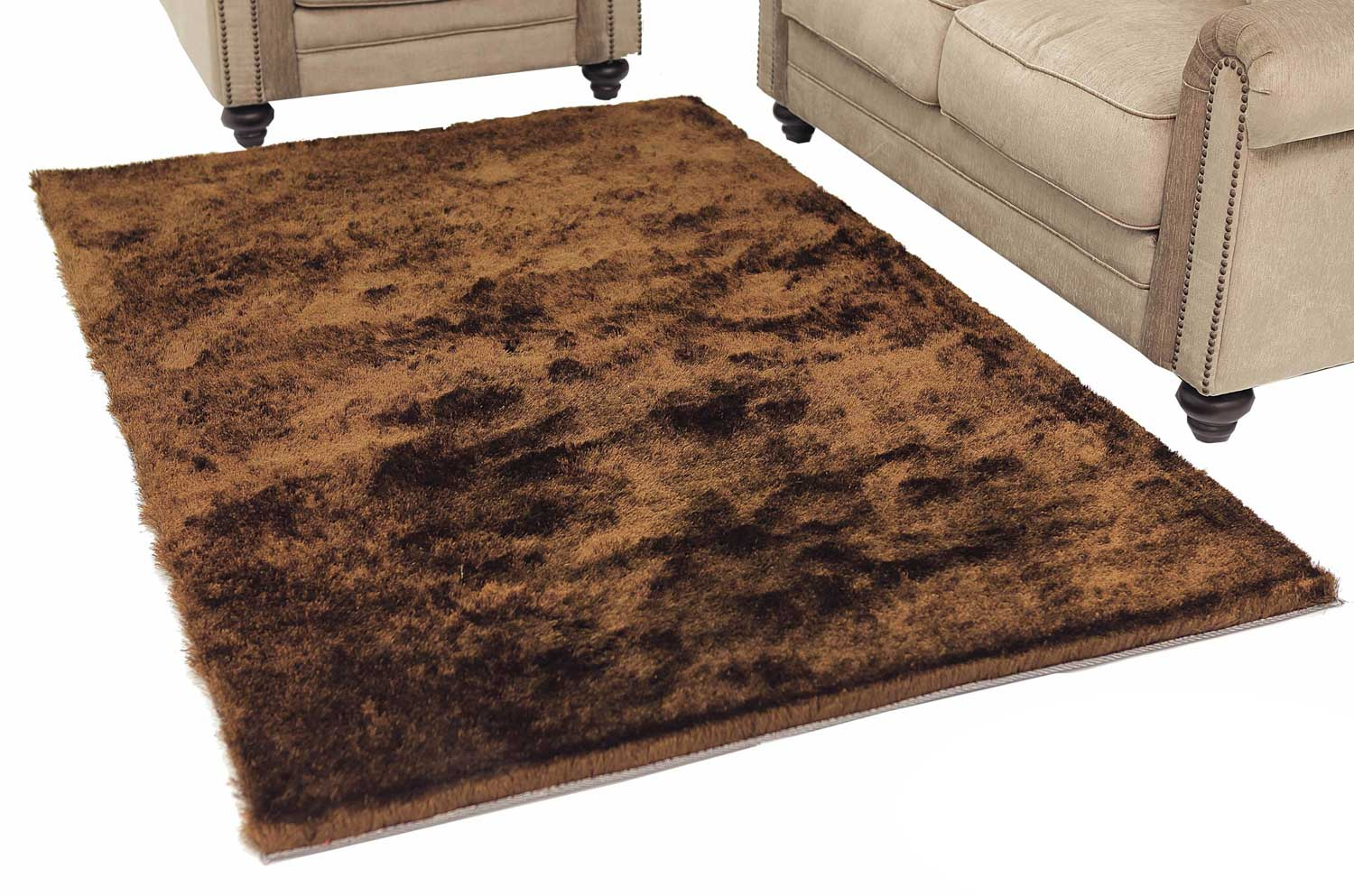 Abbyson Living AR-YS-TS012 Shag Rug 5 x 8-Feet - Multi Tone Brown