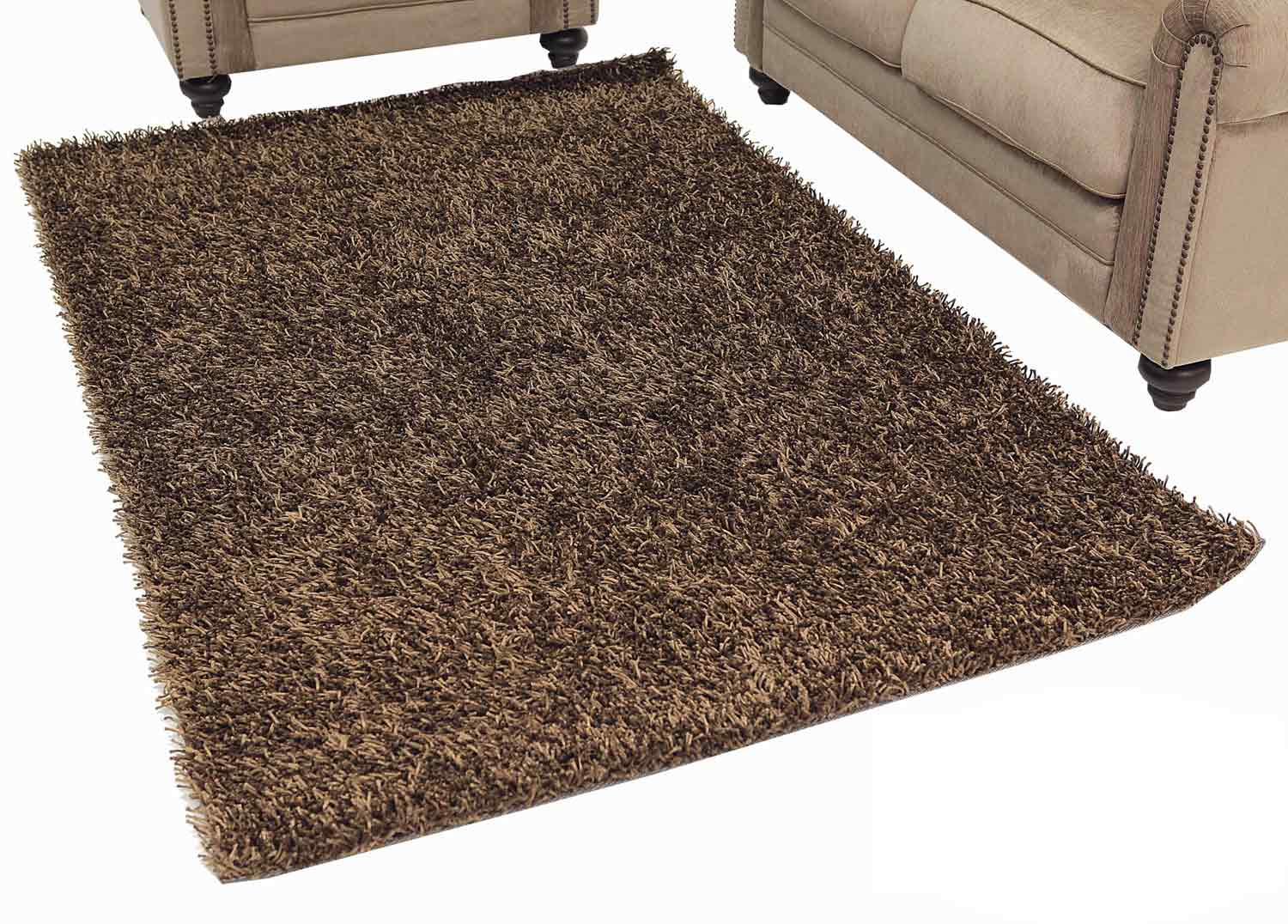 Abbyson Living AR-YS-TS017 Shag Rug 2 x 3-Feet - Two-Tone Brown
