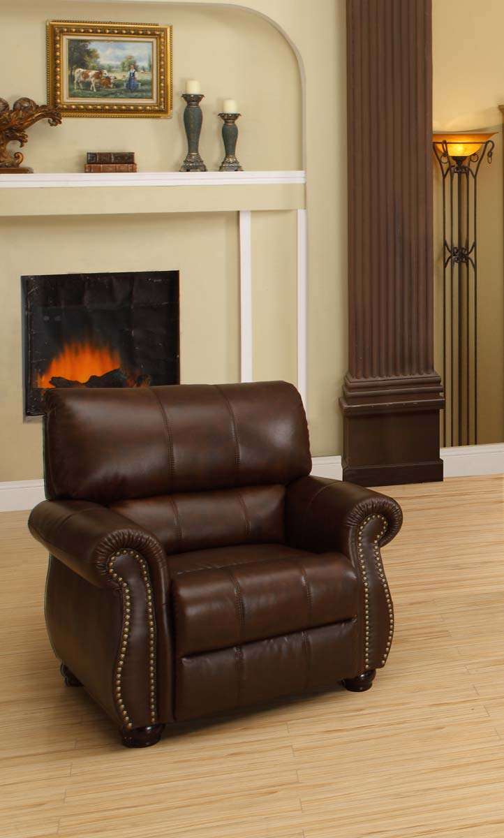 Abbyson Living Ashley Italian Leather Armchair