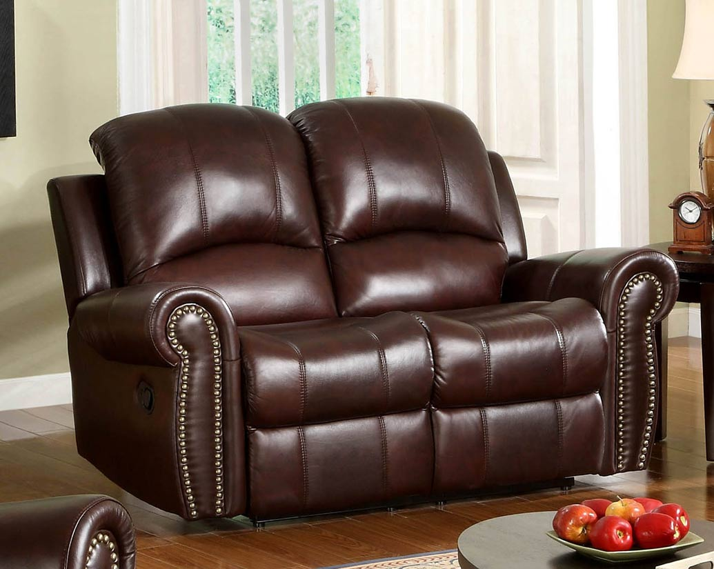 Abbyson Living Broadway 2 Pc Reclining Italian Leather Sofa And Love Seat  Set