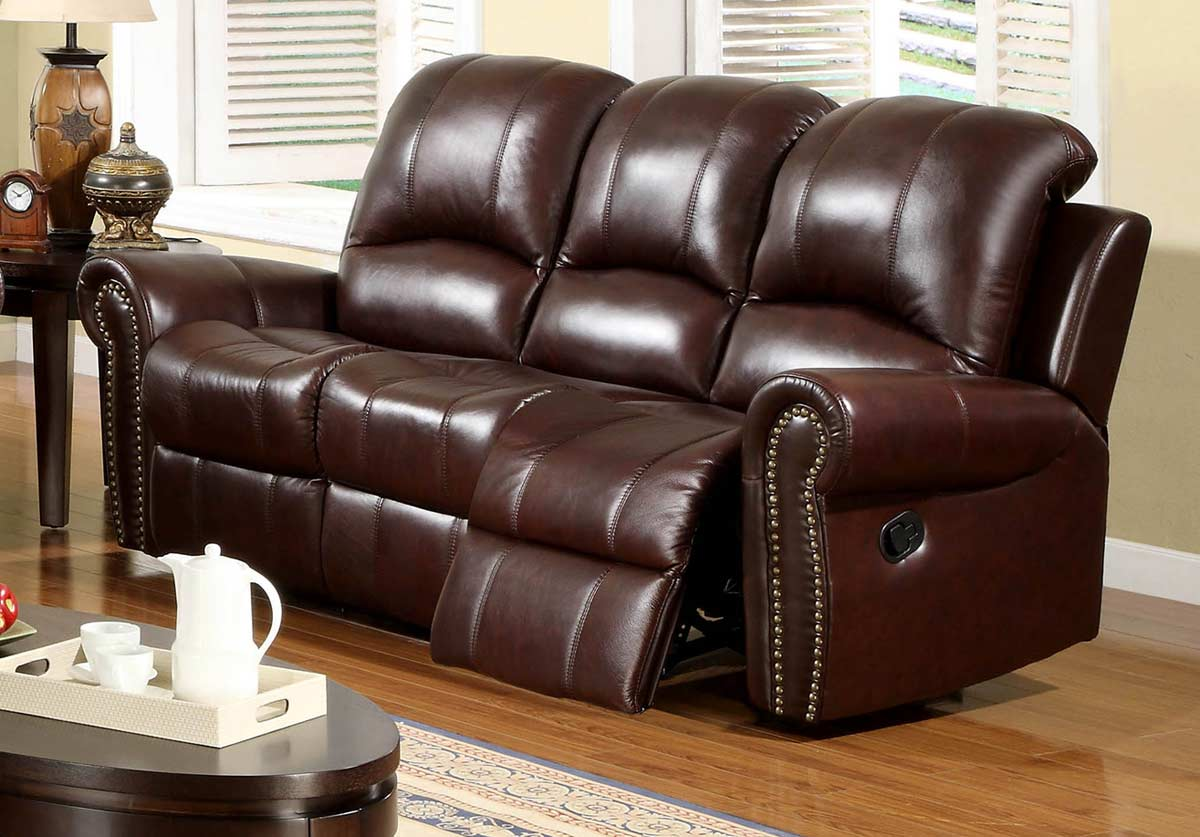 ... Abbyson Living Broadway 2 Pc Reclining Italian Leather Sofa And Chair  Set ...