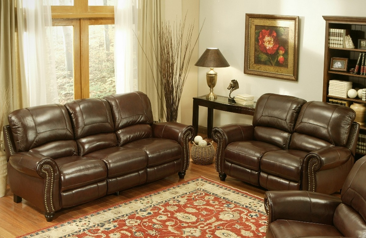 Merveilleux Abbyson Living Madison 2 Pc Leather Pushback Reclining Sofa And Love Seat  Set