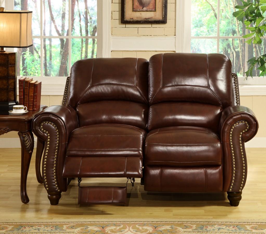 Ashley Furniture Madison: Abbyson Living Madison 2-Pc Leather Pushback Reclining