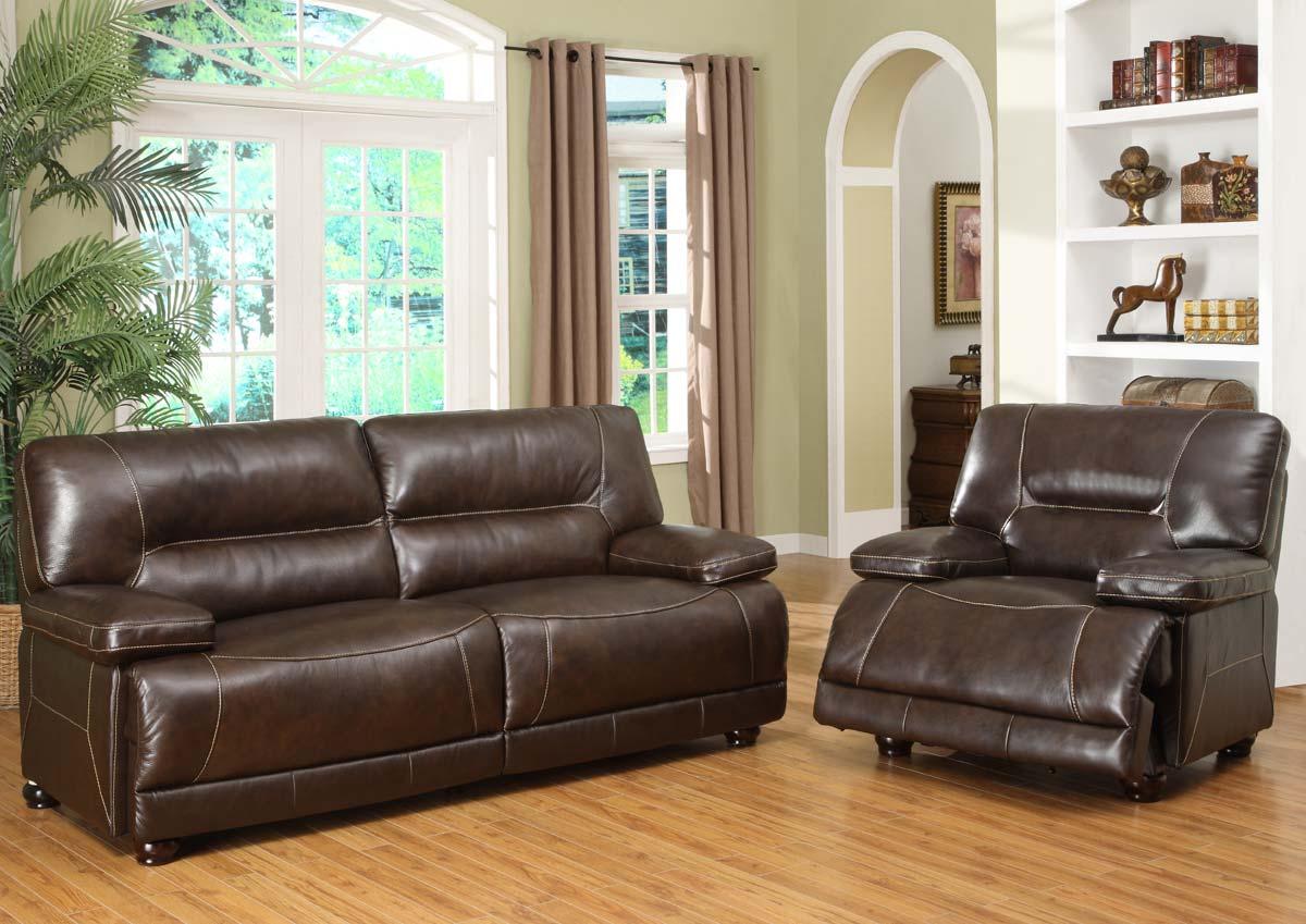 Abbyson Living Barrington Premium Italian Leather Sofa And