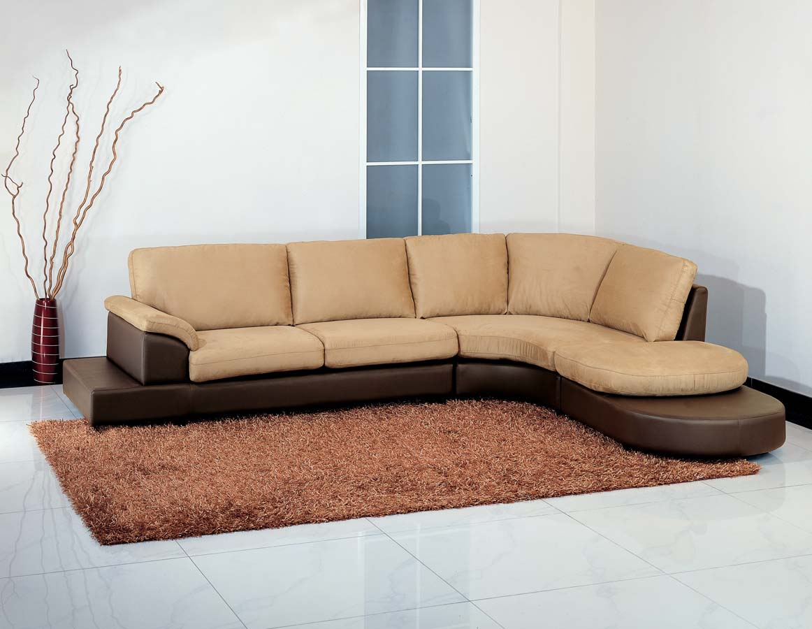 Abbyson Living Cabo Two Tone Mocha Sectional