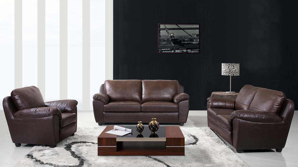 Abbyson living sedona 3 piece leather sofa loveseat and for Abbyson living sedona leather chaise recliner