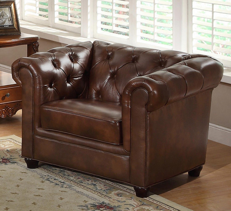 Abbyson Living Arcadian Premium Italian Leather Armchair