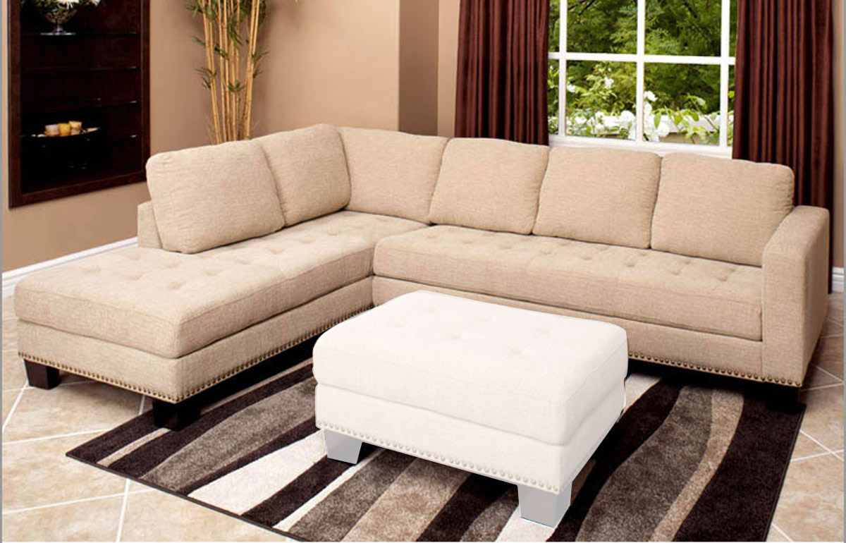 Abbyson Living Claridge Fabric Sectional Sofa